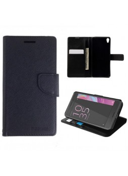 Mooncase Stand Wallet Case For Sony Xperia XA - Black