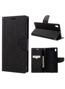 Korean Mercury Fancy Dairy Wallet Case For Sony Xperia X Performance - Black