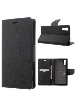 Mercury Goospery Fancy Diary Wallet Case For Sony Xperia XZ - Black
