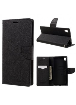 Korean Mercury Fancy Diary Wallet Case For Sony Xperia XA Ultra Black