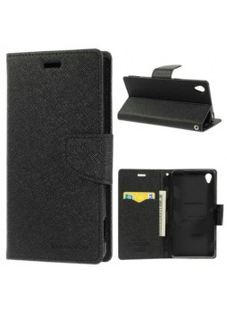 Korean Mercury Fancy Dairy Wallet Case For Sony Xperia XA1 - Black