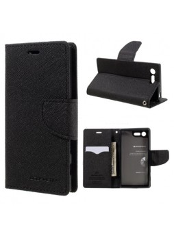 Korean Mercury Fancy Diary Wallet Case For Sony Xperia XZ1 - Black