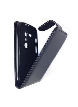 Synthetic Leather Flip Case Cover for Motorola Moto G - Black