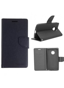 Mooncase Stand Wallet Case For Motorola Moto G5 Black