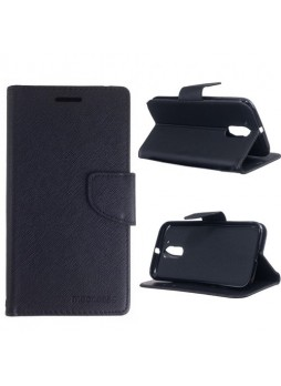 Mooncase Stand Wallet Case For Motorola Moto G4 Plus - Black