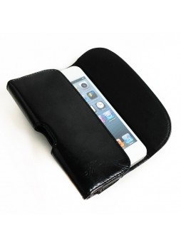 UV Synthetic PU Leather Side Pouch for iPhone 5 / 5S