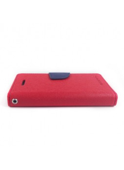 Mercury Goospery Fancy Dairy Wallet Case for iPhone 5C - Red