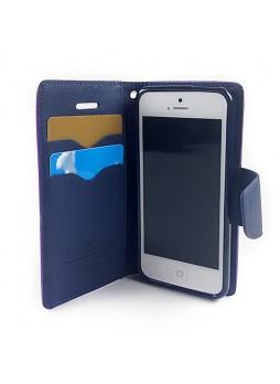 Mercury Goospery Fancy Dairy Wallet Case for iPhone 5C - Purple