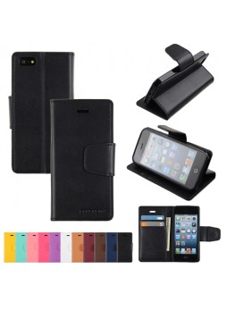 Mercury Goospery Sonata Diary Wallet Case for iPhone 5 / 5S - Black