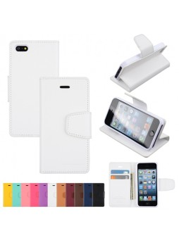 Mercury Goospery Sonata Diary Wallet Case for iPhone 5 / 5S - White