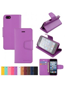 Mercury Goospery Sonata Diary Wallet Case for iPhone 5 / 5S - Purple