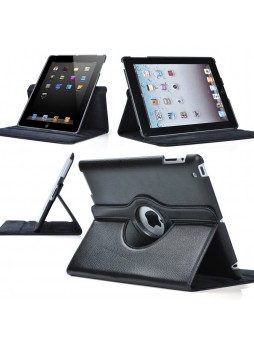 360 Degree Rotary Case Cover for iPad 2 / 3 / 4 - Black