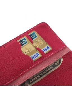 Korean Mercury Fancy Diary Wallet Case for Apple iPad mini 4 Pink