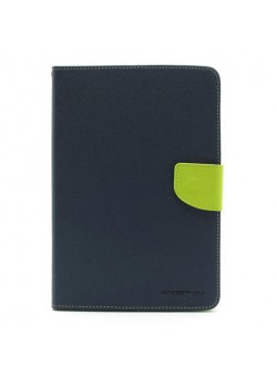 Korean Mercury Fancy Diary Wallet Case for Apple iPad mini 4 Blue