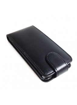 Synthetic PU Leather Flip Pouch Case for Apple iPod Touch 5 - Black