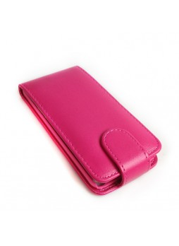 Synthetic PU Leather Flip Pouch Case for Apple iPod Touch 5 - Hot Pink