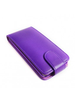 Synthetic PU Leather Flip Pouch Case for Apple iPod Touch 5 - Purple