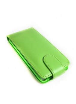 Synthetic PU Leather Flip Pouch Case for Apple iPod Touch 5 - Green