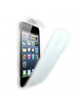 Synthetic PU Leather Flip Pouch Case for Apple iPod Touch 5 - White