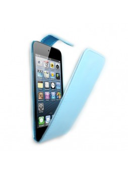 Synthetic PU Leather Flip Pouch Case for Apple iPod Touch 5 - Light Blue