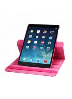 360 Degree Rotary Flip Case for iPad Air - Hot Pink