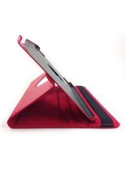 360 Degree Rotary Flip Case for iPad Air - Red