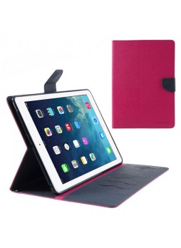 Mercury Goospery Fancy Dairy Wallet Case for iPad Air - Hot Pink
