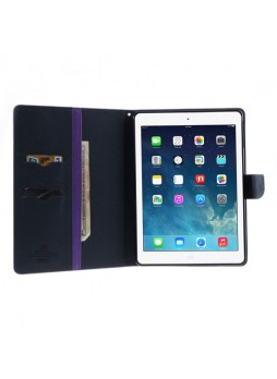 Mercury Goospery Fancy Dairy Case for iPad Air - Purple
