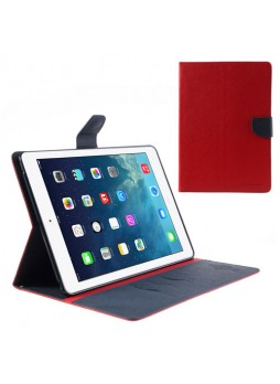 Mercury Goospery Fancy Dairy Case for Apple iPad Air - Red