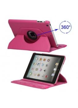 360 Degree Rotating Case for iPad mini / iPad mini 2 - Hot Pink
