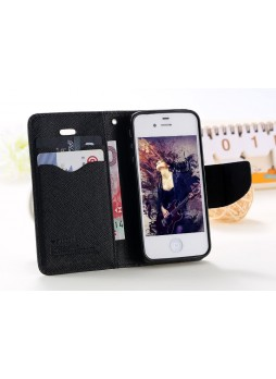 iPhone 6 Korean Mercury Fancy Diary Wallet Case - Black