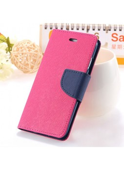 iPhone 6 Korean Mercury Fancy Diary Wallet Case - Hot Pink