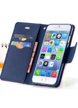 iPhone 6 Korean Mercury Fancy Diary Wallet Case - Hot Pink