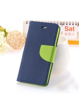 iPhone 6 Mercury Fancy Diary Wallet Case Cover - Navy Blue