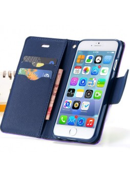 iPhone 6 Korean Mercury Fancy Diary Wallet Case - Purple