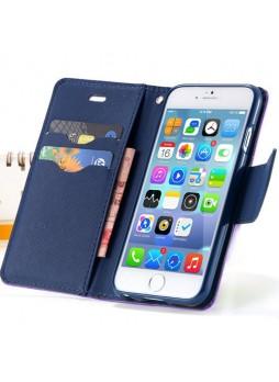 iPhone 6 Korean Mercury Fancy Diary Wallet Case - Purple