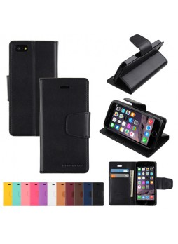 iPhone 6 Korean Mercury Sonata Diary Wallet Case - Black