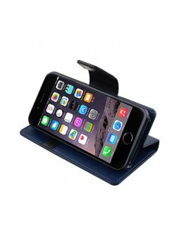 iPhone 6 Korean Mercury Sonata Diary Wallet Case - Navy