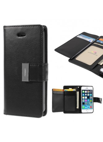 iPhone 6 Mercury Rich Diary Wallet Case Black