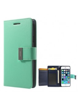 Korean Mercury Rich Diary Wallet Case for iPhone 6 - Green