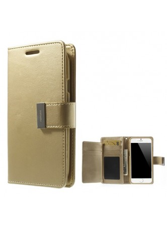 Korean Mercury Rich Diary Wallet Case for iPhone 6 - Gold