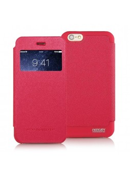 Korean Mercury WOW View Cover for iPhone 6 Red