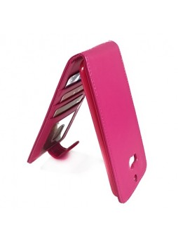 Synthetic Leather Flip Case Cover for HTC One M8 - Hot Pink