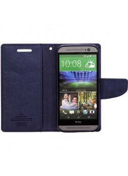 Mercury Goospery Fancy Diary Wallet Case for HTC One M8 - Purple