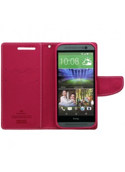 Mercury Goospery Fancy Diary Wallet Case for HTC One M8 - Baby Pink