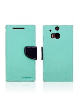 Mercury Goospery Fancy Diary Wallet Case for HTC One M8 - Green