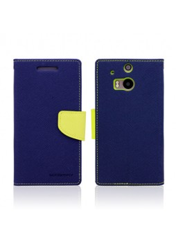 Mercury Goospery Fancy Diary Wallet Case for HTC One M8 - Navy