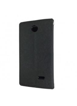 Korean Mercury Fancy Diary Wallet Case for HTC Desire 310 - Black