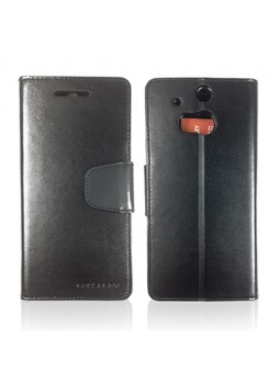 Mercury Goospery Sonata Wallet Case for HTC One M8 - Black