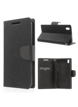 Korean Mercury Fancy Diary Wallet Case for HTC Desire 816 - Black